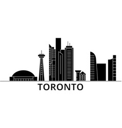 toronto architecture city skyline travel vector image