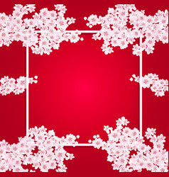 valentine s day fine art postcard sakura flowers vector image vector image