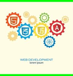 web development gears vector image