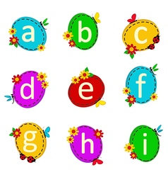 alphabet oval from A to I vector image vector image