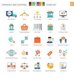Commerce Set 01 vector image