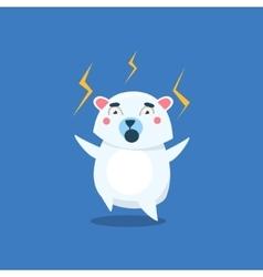 Angry Polar Bear vector image vector image