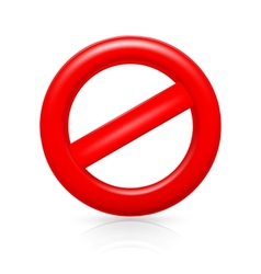 Do Not warning sign vector image vector image