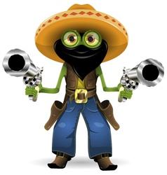 frog criminal vector image vector image