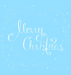 merry christmas snow vector image vector image