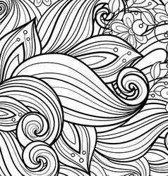 Monochrome Floral Background vector image