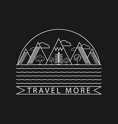 nature and mountain landscape logo with text vector image vector image