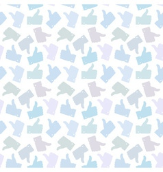 Seamless Pattern Light Thumb Up Icons vector image vector image