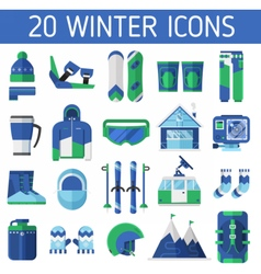 Ski Resort Icons vector image vector image
