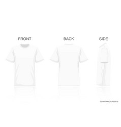 White t-shirt isolated on gray background front vector