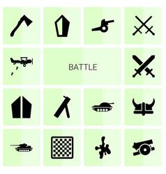14 battle icons vector