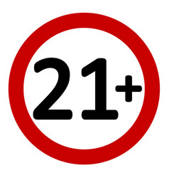 21 age restriction sign vector