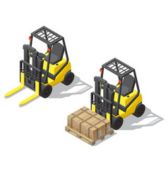 3d isometric forklift for storage vector image