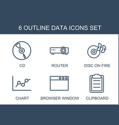 6 data icons vector