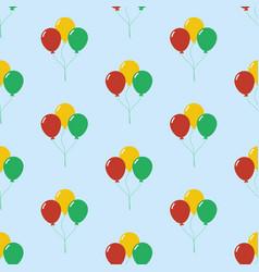 Balloon seamless pattern vector