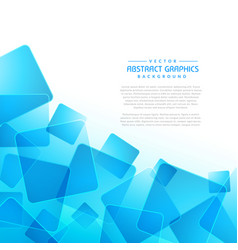 Blue square shapes abstract background vector