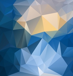 blue yellow sapphire polygon triangular pattern vector image