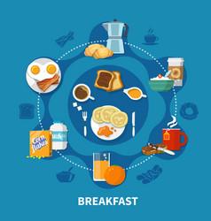 breakfast flat concept vector image