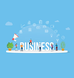 business concept with team people working vector image