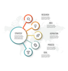 business infographic organization chart with 5 vector image