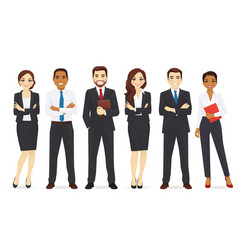 Business team set vector
