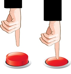 Button and hands vector
