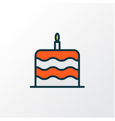 cake icon colored line symbol premium quality vector image