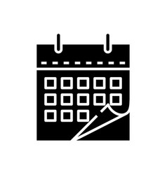 Calendar black icon concept vector