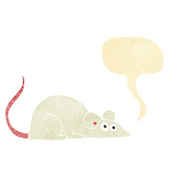 Cartoon mouse with speech bubble vector