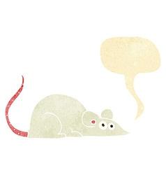 Cartoon mouse with speech bubble vector