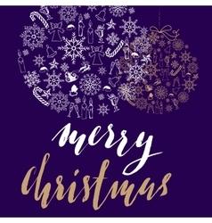 Christmas snowflakes ball Card with christmas vector