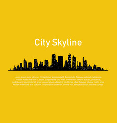 city in a flat style vector image