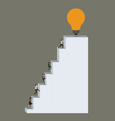 Color background with business people climbing vector