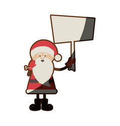 Colorful silhouette caricature of santa claus with vector