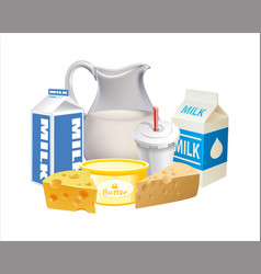 dairy product 02 vector image