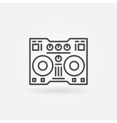 DJ controller linear icon vector