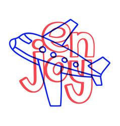 doodle enjoy travel plane summer holiday travel vector image