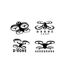 Drone logo template set vector