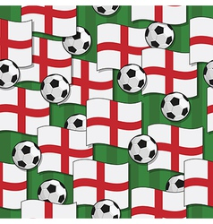 england football pattern vector image