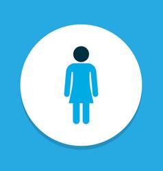 Female icon colored symbol premium quality vector