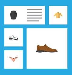 Flat icon dress set of male footware banyan vector