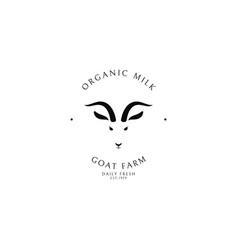 goat milk logo template vector image