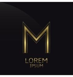Golden M Letter vector