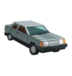 Gray car icon vector