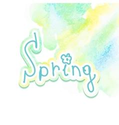 Hand drawn watercolor spring EPS10 vector image