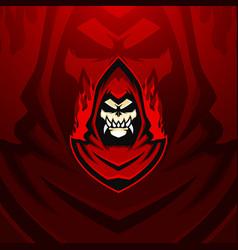 hell mage esports mascot logo vector image