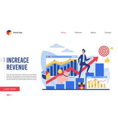 increase revenue interface vector image