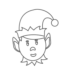 Isolated elf of Christmas season design vector image vector image