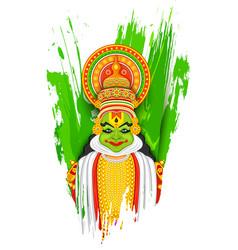 Kathakali dancer vector