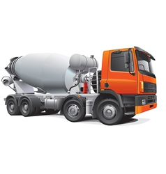 Large concrete mixer vector